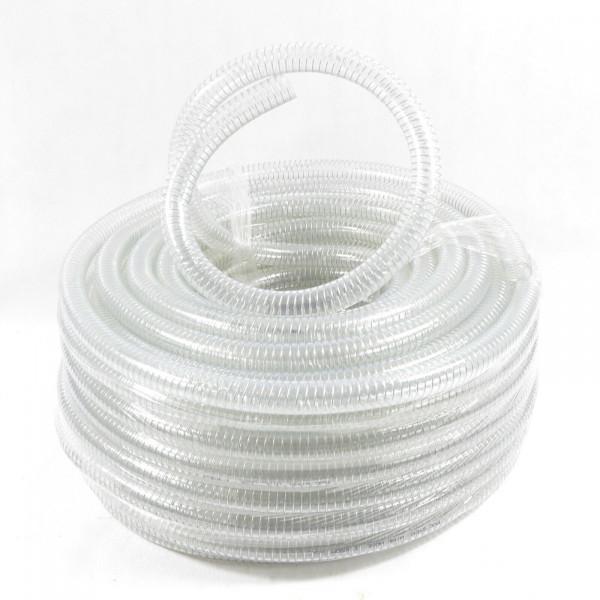"""3/4"""" - 19mm Spiralschlauch sehr flexibel transpartent Meterware Länge bis 50m"""