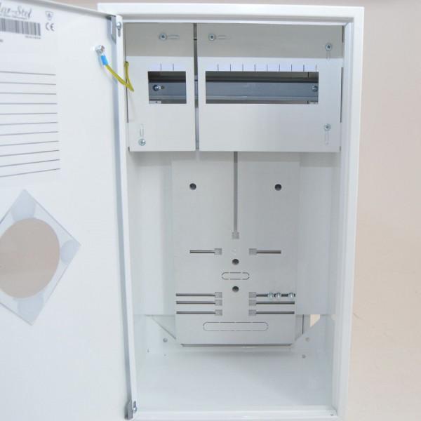 Zählerschrank Sicherungskasten Verteilerkasten für 1 x Zähler 1-Ph + 12 Sicherungen