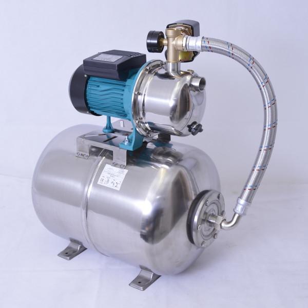 Hochwertiges 50 L Edelstahl Hauswasserwerk 1100W - 5 bar Pumpe mit Druckschalter