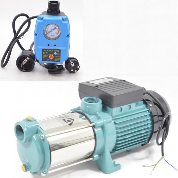 Hauswasserautomat Gartenpumpe Kreiselpumpe MHI 1300 INOX 1,3kW 6000 L/h 5,5 bar + SK AQUA-Line