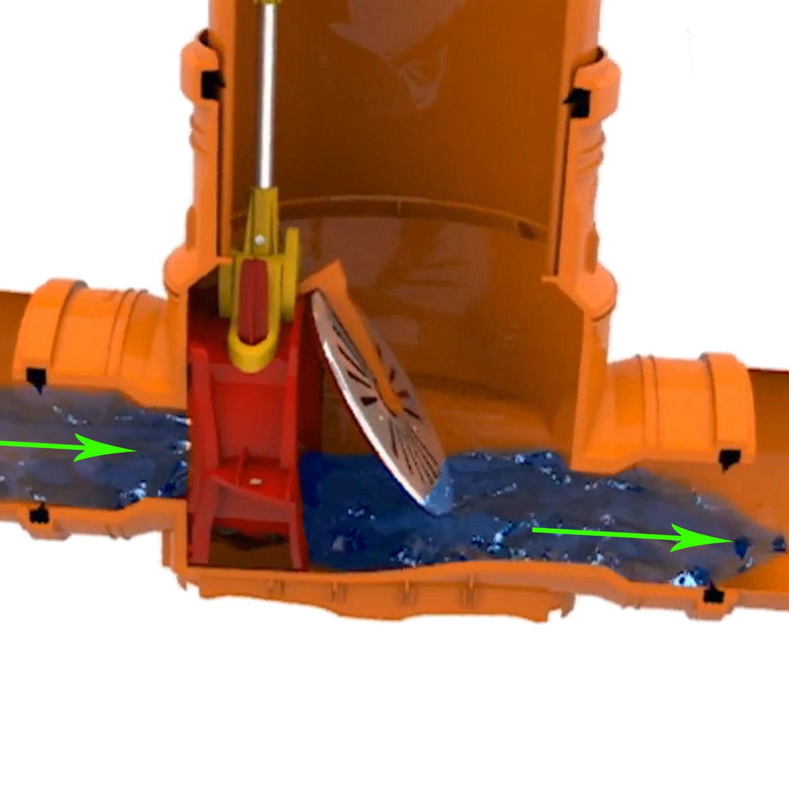 Favorit Kontrollschacht Revisionsschacht DN400 Rückstauklappe 2 x Ø160 mm RZ33