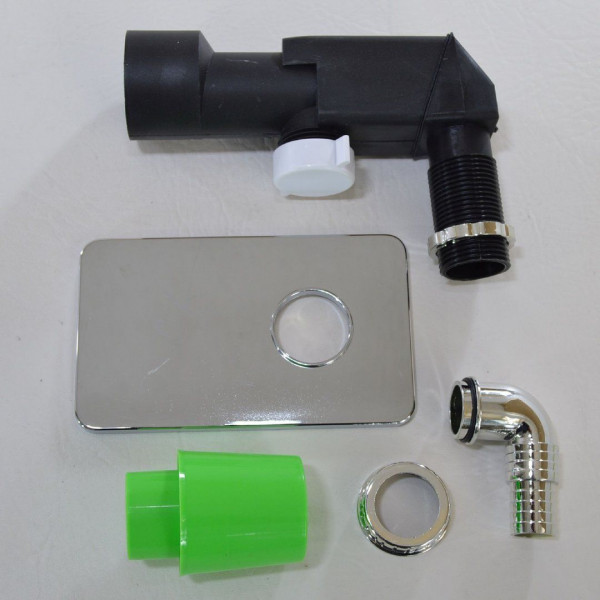 Unterputz Geräte Siphon UP-Sifon DN 40 50 mm Syphon Abfluß Waschmaschine