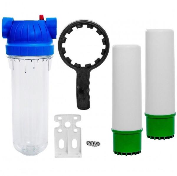 """10"""" Filtergehäuse Wasserfilter 2x Eisenfilter 1"""" IG Brunnen Wasser Filter"""