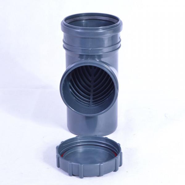 Fallrohrfilter Regenrohrfilter m. Laubfang DN100 Ø110 HT / KG- Rohre Graphit