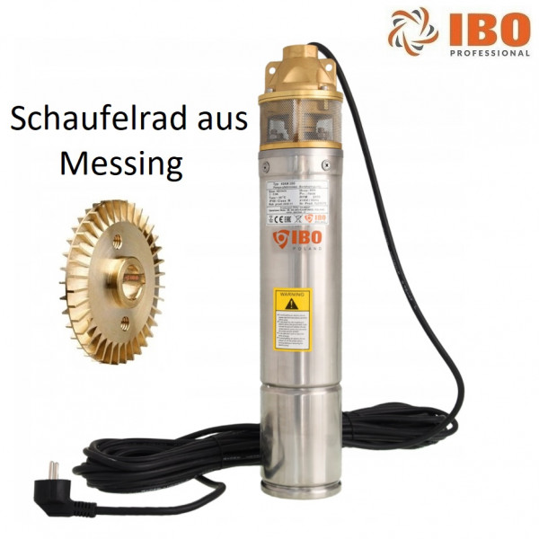 """Tiefbrunnenpumpe SKM100 4"""" 98 mm bis 2400l/h 750W Sandverträglich >0,3%"""