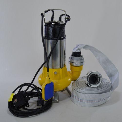 Fäkalienpumpe Tauchpumpe Schmutzwasserpumpe 1,1kW freier Durchlauf bis 35 mm