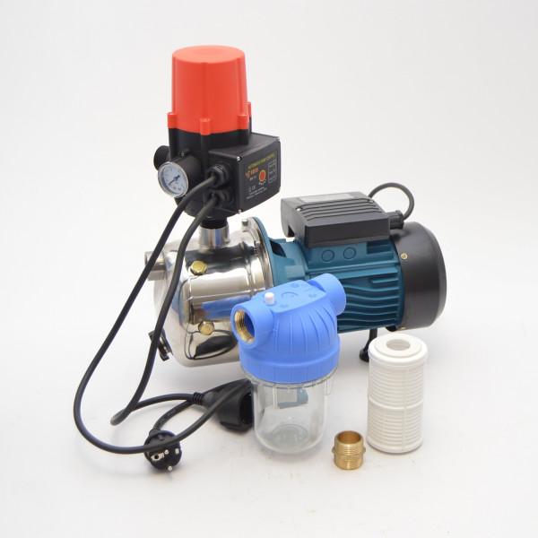 Kreiselpumpe Gartenpumpe 1100 Watt 3600 L/h 5 bar + Vorfilter + Pumpensteuerung