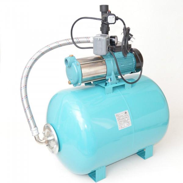 100 L Hauswasserwerk Gartenpumpe 1300W Hauswasserautomat mit Trockenlaufschutz