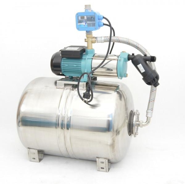 100L Edelstahl Hauswasserwerk 6000L/h 1,3kW 5,5bar Digitaler Trockenlaufschutz
