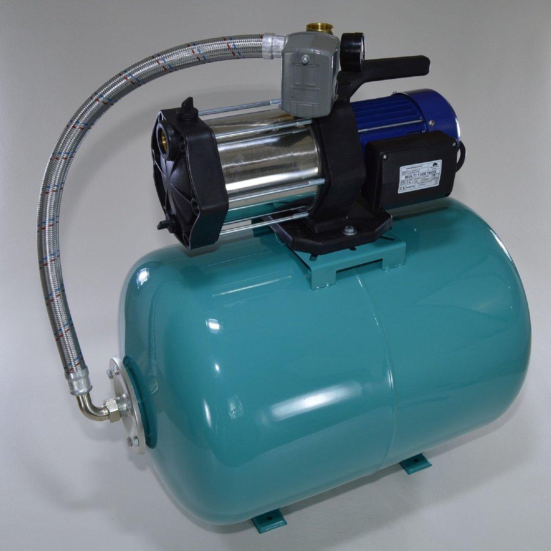 hauswasserwerk 100 liter pumpe gartenpumpe multi 1300 inox mit druckschalter hauswasserwerke. Black Bedroom Furniture Sets. Home Design Ideas