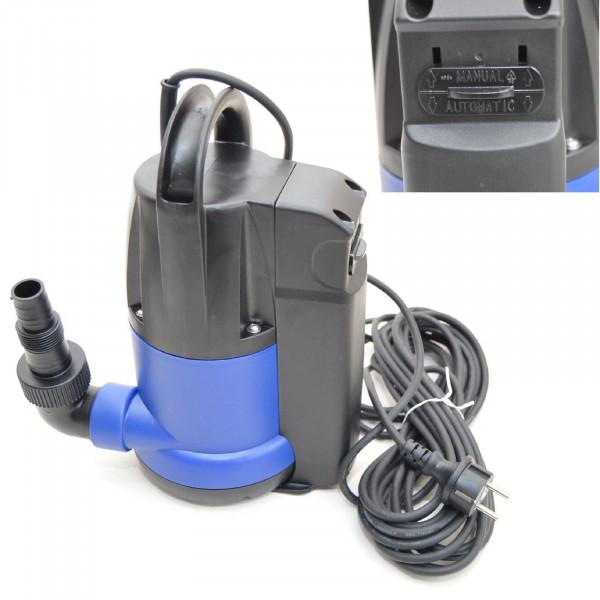 Flachsaugende Tauchpumpe Flachsaugend bis 2-3 mm Schmutzwasserpumpe 7200l/h