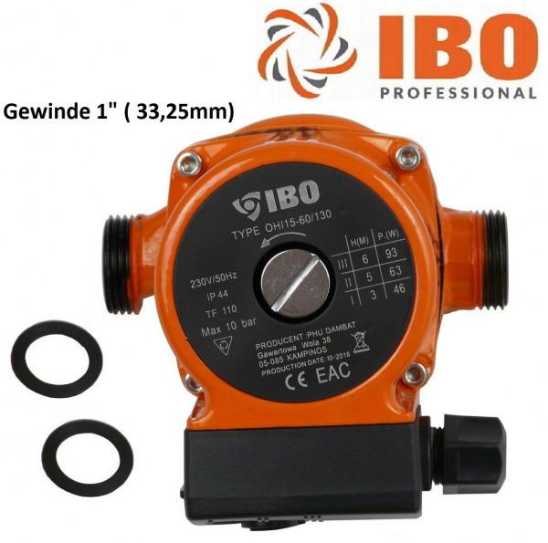 Umwälzpumpe Heizungspumpe IBO 15-60/130 Pumpe + Dichtungen Warmwasser Heizung
