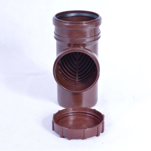 Fallrohrfilter Regenrohrfilter m. Laubfang DN100 Ø110 HT / KG- Rohre Farbe braun