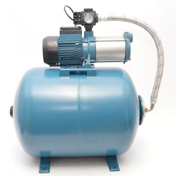 100 L Hauswasserwerk mehrstufige Pumpe MH1300 Hauswasserautomat Gartenpumpe-Copy