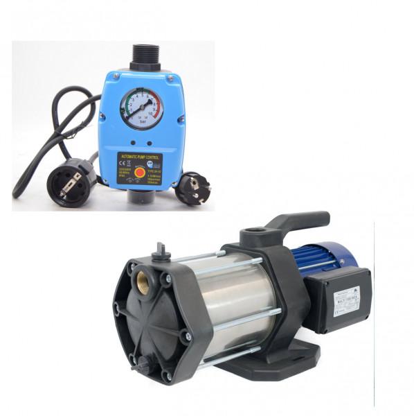 Gartenpumpe Kreiselpumpe Multi 1100 INOX 5-stufig Edelstahl 6000 L/h + Steuerug