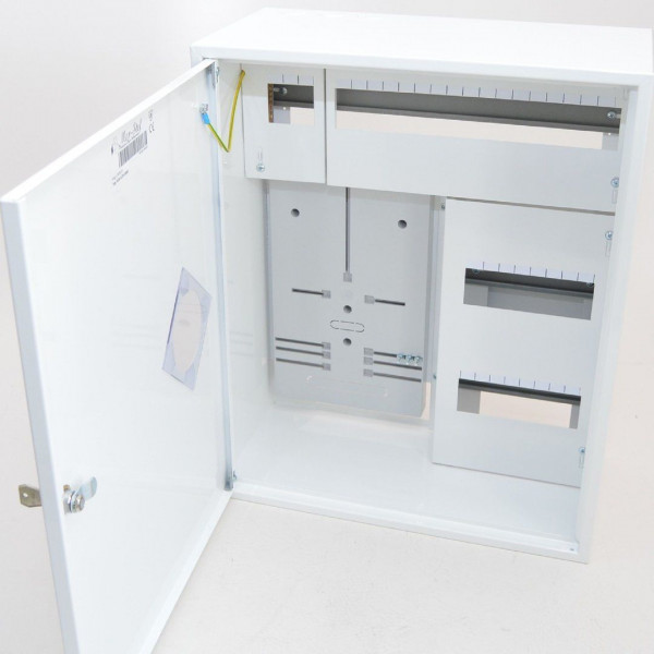 Zählerschrank Sicherungskasten Verteilerkasten für 1 x Zähler 1-Ph + 36 Sicherungen