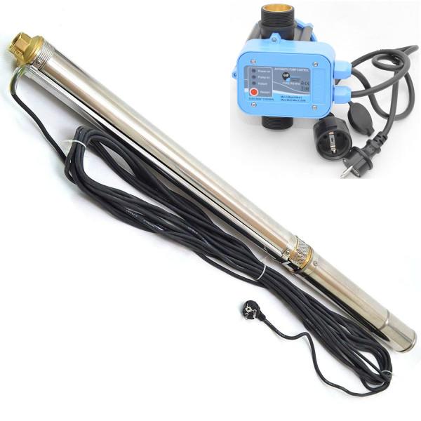 """Tiefbrunnenpumpe 3,5"""" 89mm-6300 l/h 13 bar sandresistent bis 5% + Pumpensteuerung PS012"""