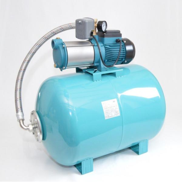 100 L Hauswasserwerk mehrstufige Pumpe MH1300 Hauswasserautomat Gartenpumpe