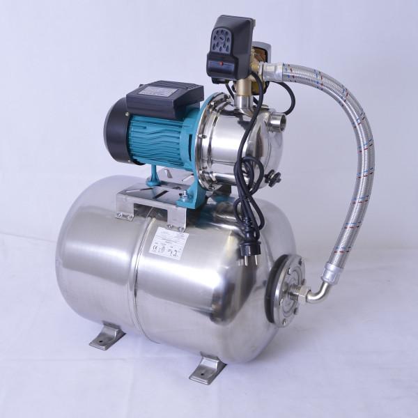 Hochwertiges 50 L Edelstahl Hauswasserwerk 1100W 5bar mit ! Trockenlaufschutz !