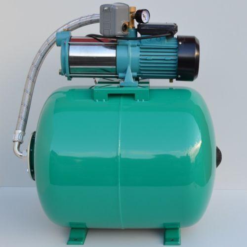 Hauswasserwerk 80 Liter mit Gartenpumpe MHI 1300Watt INOX Edelstahl 5-stufig