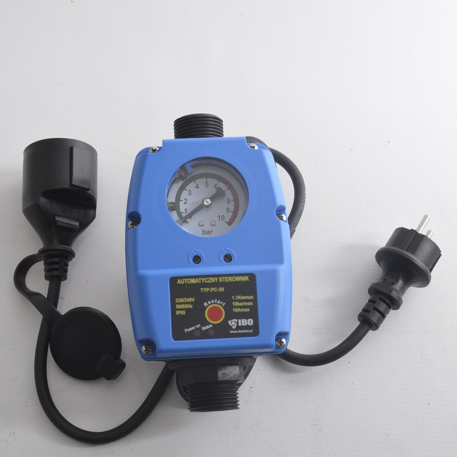 PC-59 Druckschalter Pumpensteuerung 1 Zoll bis 10 bar f/ür Pumpen Druckw/ächter Tiefbrunnenpumpe Trockenlaufschutz