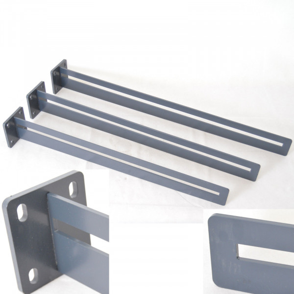1 Stück Vordachhalter Vordachträger Vordach RAL7016 Breite 80cm Pulverbeschichtet