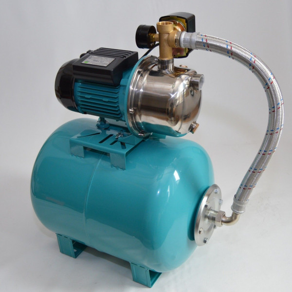Hauswasserwerk Hauswasserautomat 50 Liter Pumpe 1100 W Gartenpumpe Jetpumpe