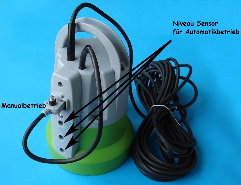 Flachsaugende Tauchpumpe Flachsaugend bis 2-3 mm Schmutzwasserpumpe 7200l//h