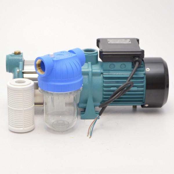 Kreiselpumpe Gartenpumpe MHI 1500 INOX 1,5kW 5700 L/h - 8 bar + Vorfilter Filter