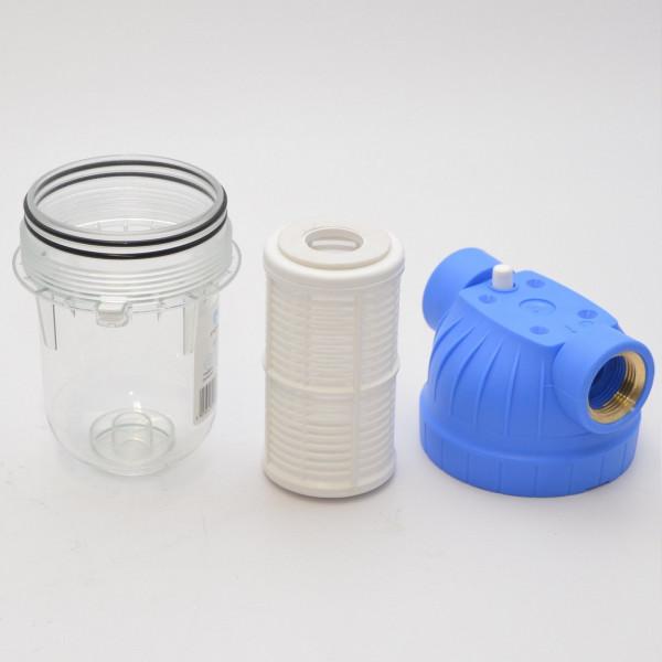 """5"""" Wasserfilter 2x 1"""" IG Vorfilter Mehrwegfilter f. Gartenpumpe Hauswasserwerk"""