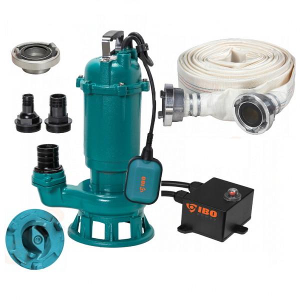 Fäkalienpumpe Tauchpumpe Schmutzwasserpumpe 550W Schneidmesser + 20m C-Schlauch