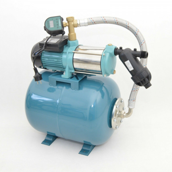 Hauswasserwerk 50 Liter 5-stufige Pumpe MHi1300 6000l/h Trockenlaufschutz DTS + Vorfilter