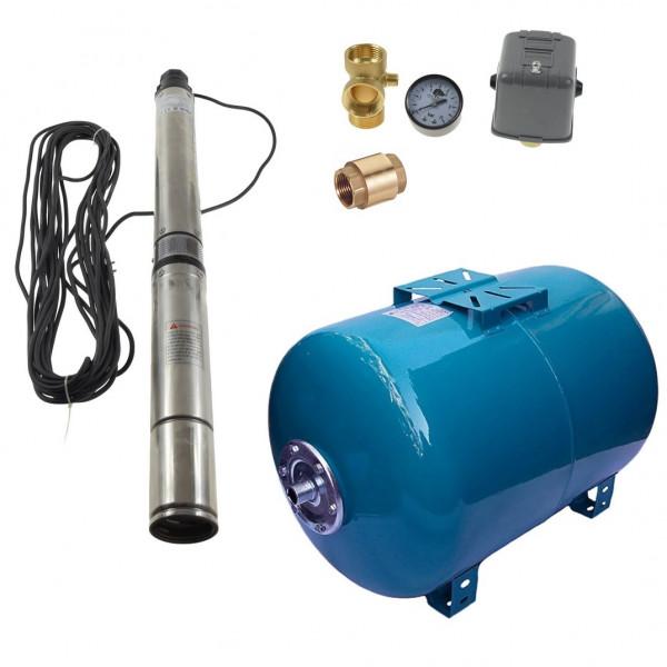 100 L Hauswasserwerk Hauswasserautomat Tiefbrunnenpumpe 7,4bar 4200l/h