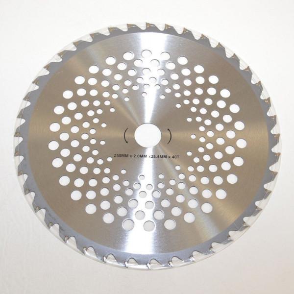 Sägeblatt Motorsense Widia Kreissägeblatt 255 mm 40Z Bohrung 25,4 mm
