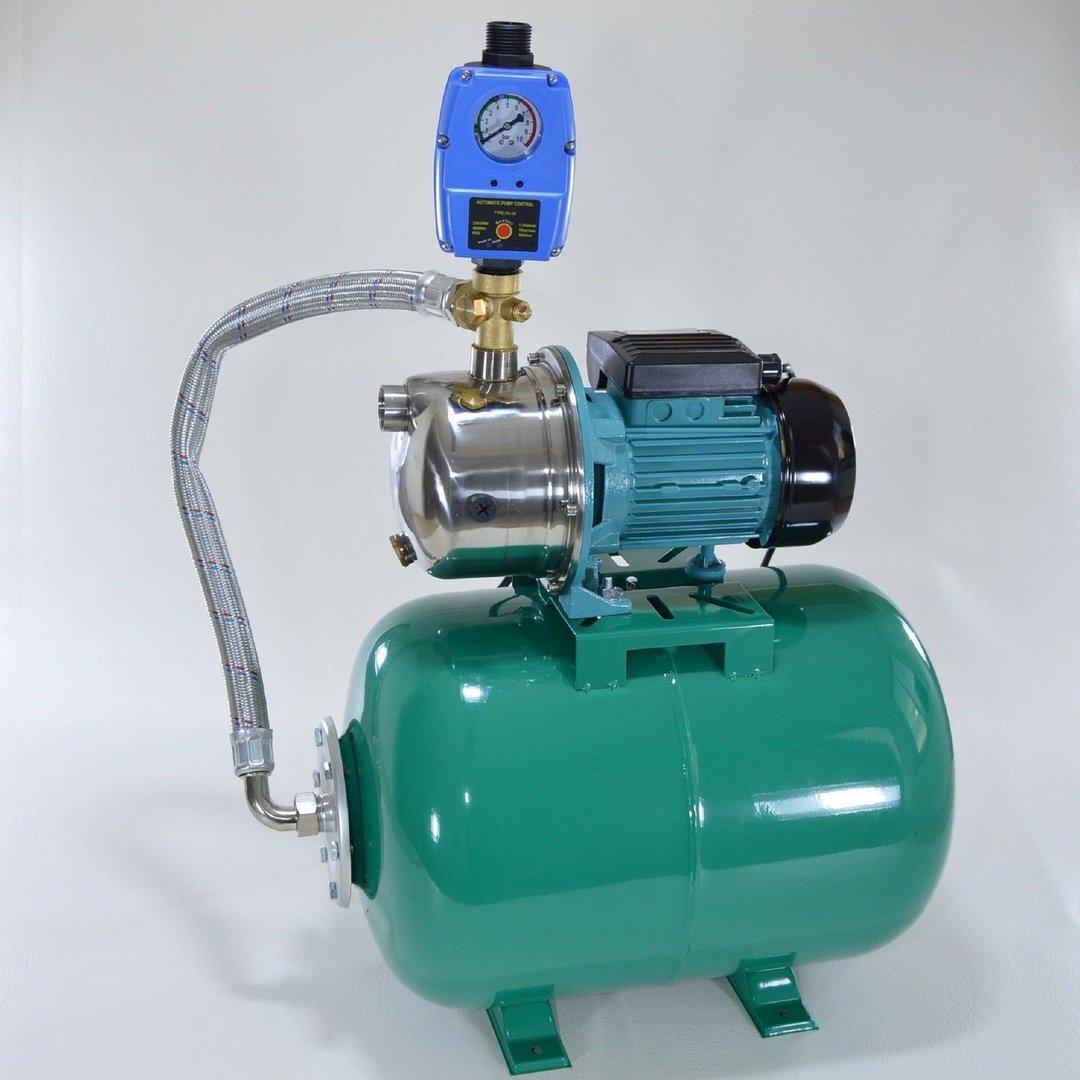 hauswasserwerk 50l pumpe 1100 pumpensteuerung trockenlaufschutz hauswasserwerke pumpen. Black Bedroom Furniture Sets. Home Design Ideas