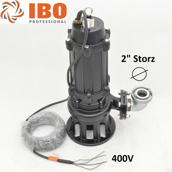 Industrie Fäkalienpumpe Schmutzwasserpumpe mit Rührwerk 400V Förderhöhe 3,1bar