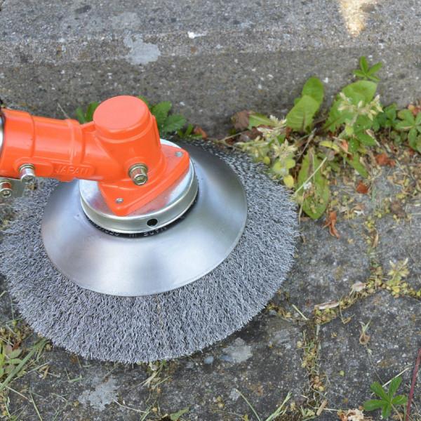 Unkrautbürste Wildkrautbürste Fugenbürste Motorsense weich 25,4x200mm Bürste