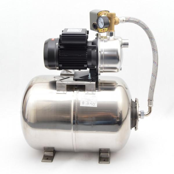 Hochwertiges 50 L Edelstahl Hauswasserwerk 750W 4,5 bar Pumpe mit Druckschalter