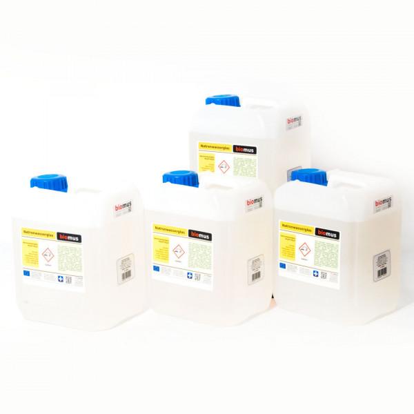 20 Liter ( 4 x 5 Liter ) entspricht 26 kg Natronwasserglas R-134 ( min. 34% )