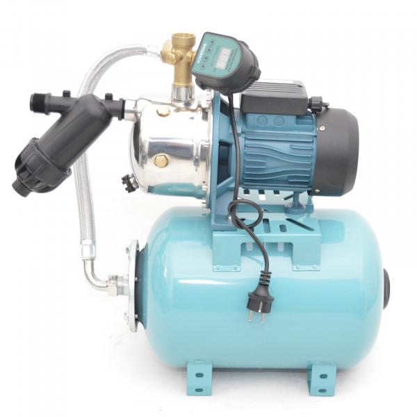 Hochwertiges 24 L Hauswasserwerk 3600L/h 5bar + EDS Trockenlaufschutz Vorfilter
