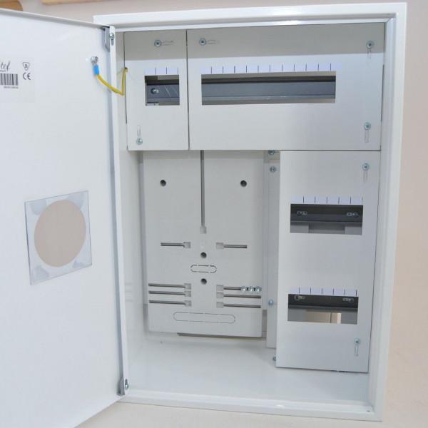 Zählerschrank Sicherungskasten Verteilerkasten für 1 x Zähler 1-Ph + 24 Sicherungen