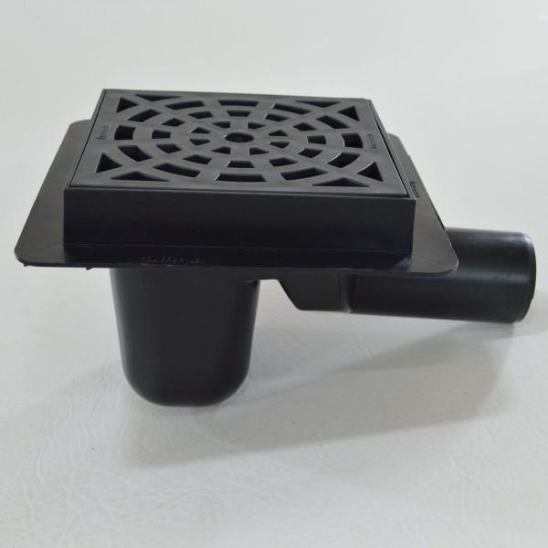 Bodenablauf Duschablauf Badablauf Kellerablauf 150x150 mm mit Syphon schwarz