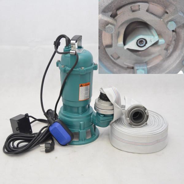 Fäkalienpumpe CTR550 Tauchpumpe Schmutzwasserpumpe 550W - 15000l/h m. Schneidmesser + 20m C-Schlau