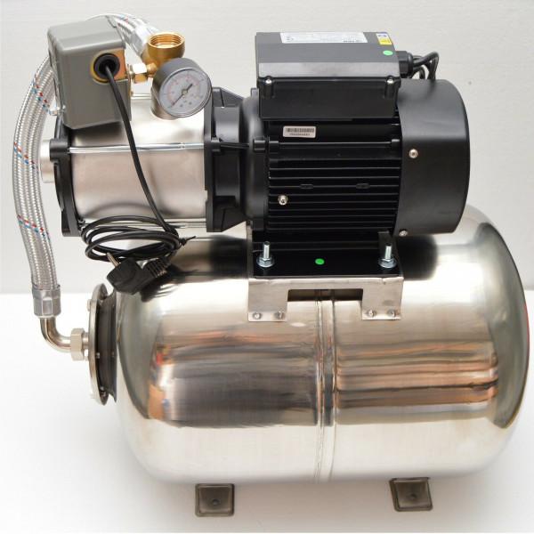 Hochwertiges Edelstahl Hauswasserwerk Hauswasserautomat 50L - 6,7bar - 5100L/h - Pumpe 1100W