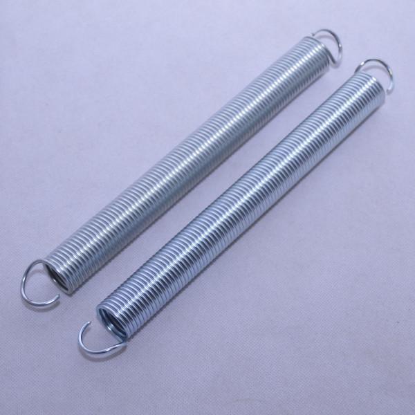 2 Stück Zugfeder Feder ø 28 mm, 300 mm / 30 cm lang, d= 2,8 mm verzinkt