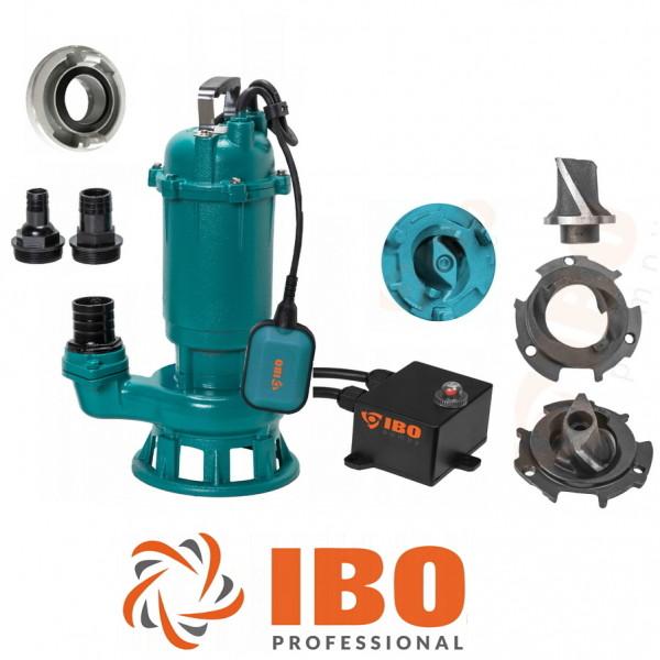 Fäkalienpumpe CTR1500 Tauchpumpe Schmutzwasserpumpe 1500W - 24000l/h m. Schneidmesser + Storz