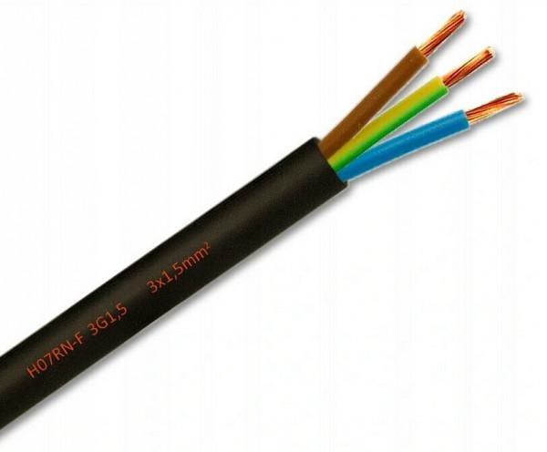Gummikabel Gummileitung Gummischlauchleitung H07RN-F 3x1,5 Stromkabel Kabel Meterware 1,25 €/m-Copy
