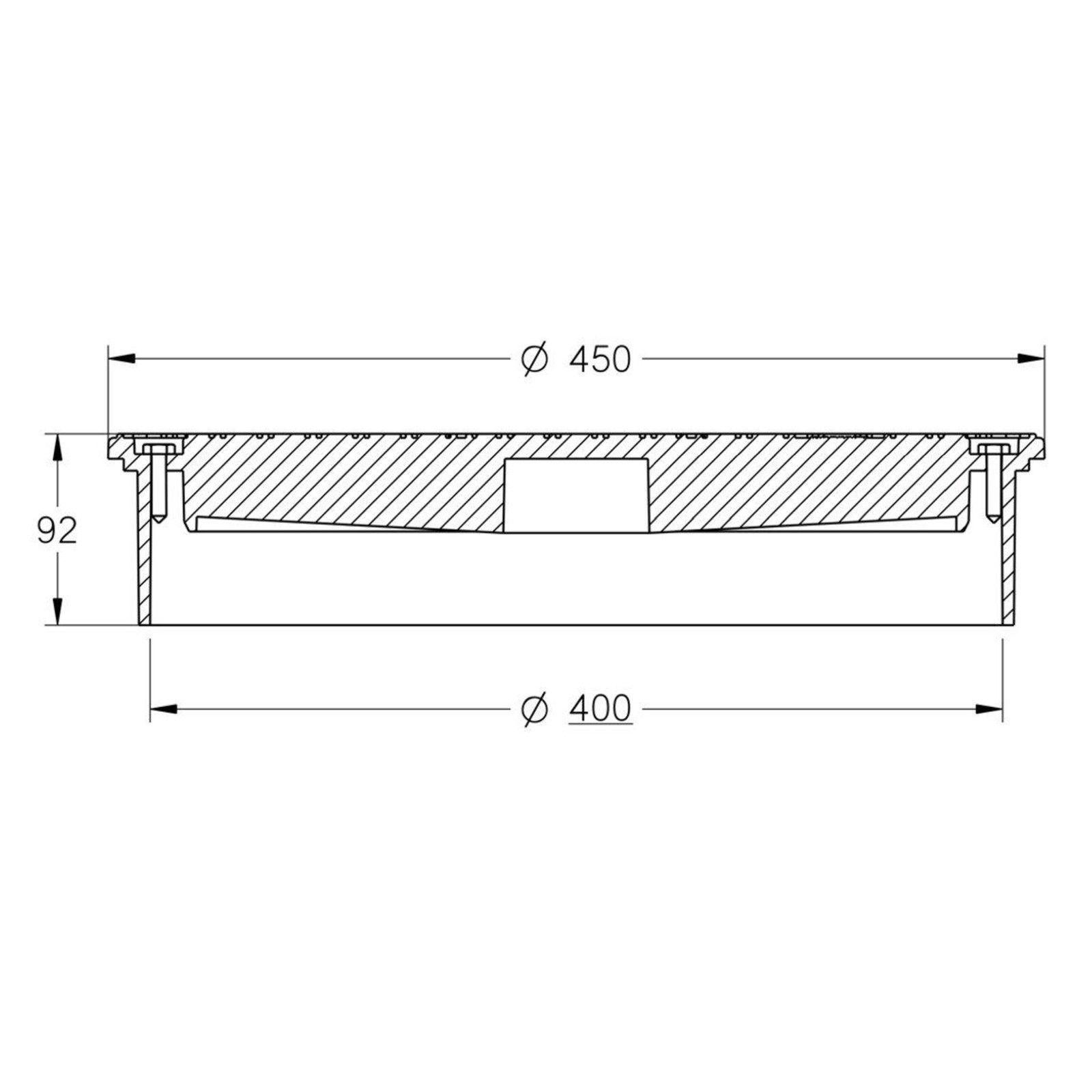 Rohr DN400 KG Schacht Abwasserschacht Schachtboden mit R/ückstauklappe DN400//DN110 DN315 Kanal Entw/ässerung Komplett SET quadratisch Regen Deckel DN315