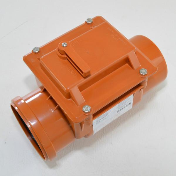 Rückstauklappe Ø 125 mm Rückstauverschluß Rattenschutz Geruchsverschluß