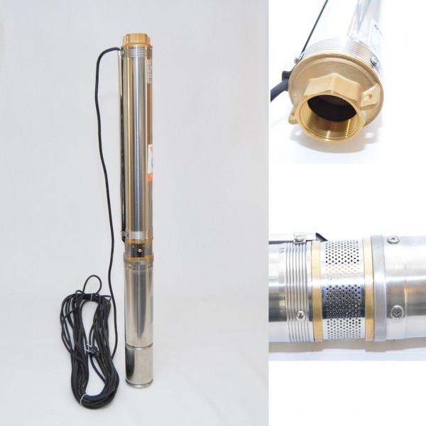 "Tiefbrunnenpumpe Brunnenpumpe 4"" 99 mm bis 4500 l/h 0,75kW 8,4 bar sandresistent"
